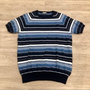 Altea Striped Short Sleeve Sweater Size M/L